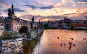 edinburgh, scotland, Эдинбург, Шотландия, город, мост, архитектура, люди, вечер