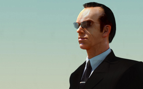 Hugo Weaving, Agente Smith, matriz, gafas, traje