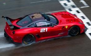Ferrari, rosso, gara, traccia, finire, Ferrari