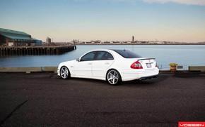 car, wallpaper, Mercedes, e-Class, Tuning, Vossen, back of, mercedes