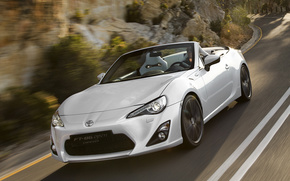 toyota, FT-86, Cabriolet, white, cars, machinery, Car