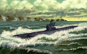 fleet, underwater, boat, USSR, project, series, Soviet, average, Diesel, electrical, underwater, boats.