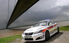 полиция, мост, пейзаж, река, погода, вода, вид, Lexus