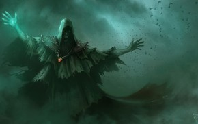 Art, wizard, muzhik, hood, monster, Darkly
