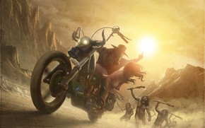 Art, motorcycle, guy, girl, savages, Chase, abduction, exposed