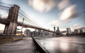 united states, new york, dumbo, brooklyn bridge