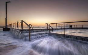 south wales, sydney, warriewood beach, sea, landscape