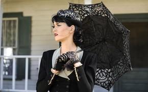 Katie, perry, singer, celebrity, umbrella, black, gloves