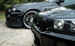 ниссан, гтр, черный, Nissan