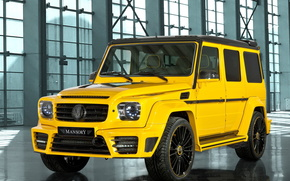Mansory, Gronos, Mercedes-Benz, SUV, yellow, cars, machinery, Car