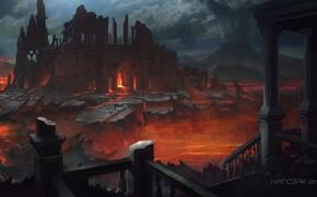 арт, руины, развалины, город
