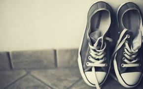 настроения, кеды, обувь, серый, фон, обои
