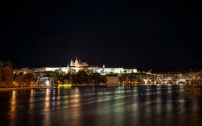 Czech Republic, river, prague, night, of