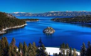 natura, Montagne, Blue Lake, State Park, abete rosso