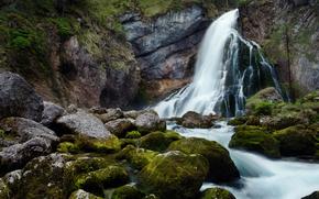 nature, waterfalls, Little Falls, stones