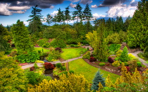 Jardins, queen elizabeth jardin, Vancouver, Canada, Nature