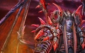 Art, daemon, guy, wings, Horn, tattoo