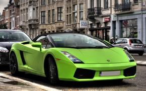 Lamborghini, Gaillarde, verde, strada, Lamborghini