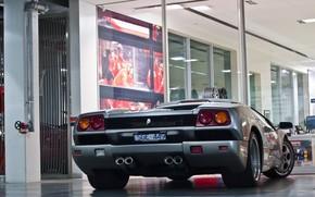 Lamborghini, Diablo, argento, Lamborghini