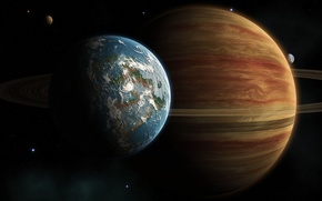 planet, satellite, satellite, atmosphere, sea, clouds