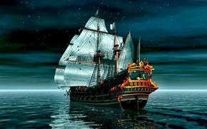 Representacin 3D, barcos, Naves, 3d render, Cosecha, Cosecha