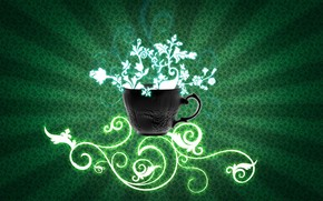 fondo, krushka, papel pintado, verde