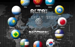 Quirguisto, Japo, bandeiras, Coria, asitico, mongol, kazakh, sakha, Yakut, altai, mapa asitico, Naes da sia, migrao, Pessoas, histria, mongolides, famlia altaica, mapa, sia, Famlia altaica, Tengri, nmades, estepe grande, (Quirguisto), japons, ban
