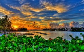Dubois Park, Giove, Florida, Florida, tramonto