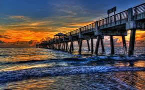 natura, cielo, nuvole, tramonto, acqua, paesaggio, mare
