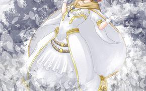 girl, dress, background
