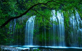 USA, Northern California, dunsmuir, shasta retreat, mossbrae falls, sacramento river, nature, waterfall, Trees, greens, erno photography