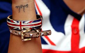 hand, decoration, bracelet, flag, tattoo