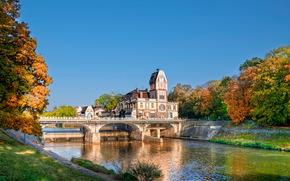 Czech Republic, Bridges, River, hradec krflove, of