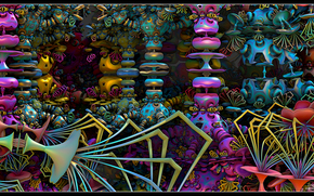 abstraction, fractal, 3d