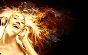 flame, dance, girl