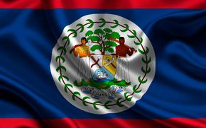 belize, Satin, Flagge, Flagge, Satin, Wappen