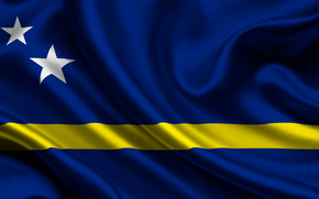 curacao, satin, flag, flag, Star, coat of arms