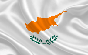 cyprus, satin, flag, flag, Cyprus, coat of arms