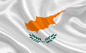 Cypr, satyna, flaga, flaga, Cypr, Herb