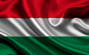 hungary, satin, flag, Hungary, Atlas, flag