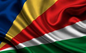 seychelles, satin, flag, flag, Seychelles, Seychelles