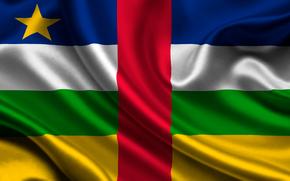 Republika rodkowoafrykaska, satyna, flaga, Republika rodkowoafrykaska, Atlas, flaga