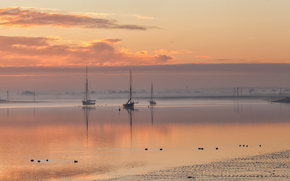 Sunrise over Maldon, essex, United Kingdom