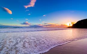 Queensland, Australia, Sunrise, coast