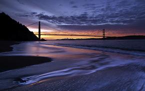 united states, california, sausalito, kirby cove sunrise