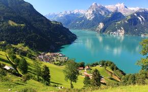 Пейзаж, Швейцария, schwyz morschach, Природа