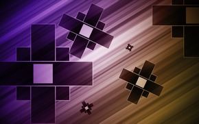 abstraction, background, squares, figures, band