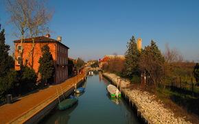 Италия, venezia, Водный канал, Города