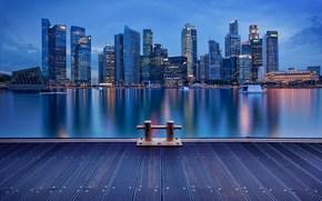city, night, wharf, berth