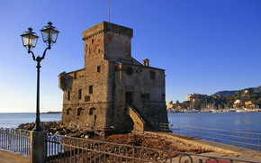 Castles (Fortress), Italy, rapallo, lights, of